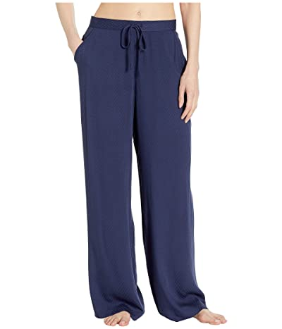 N by Natori Rayon Jacquard Pants (Midnight Navy) Women