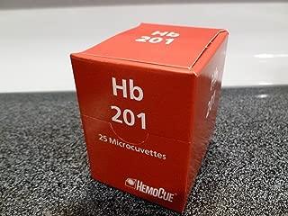HemoCue HB 201 Analyzer HemoGlobin Microcuvettes, 25 per Pack