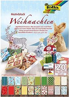Folia Bloc de Papier à Motifs Noël coloré