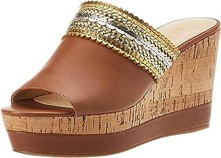 Ninewest Varka Casual & Dress Shoe For Women DKNAT/GLMT Size 38.5 EU