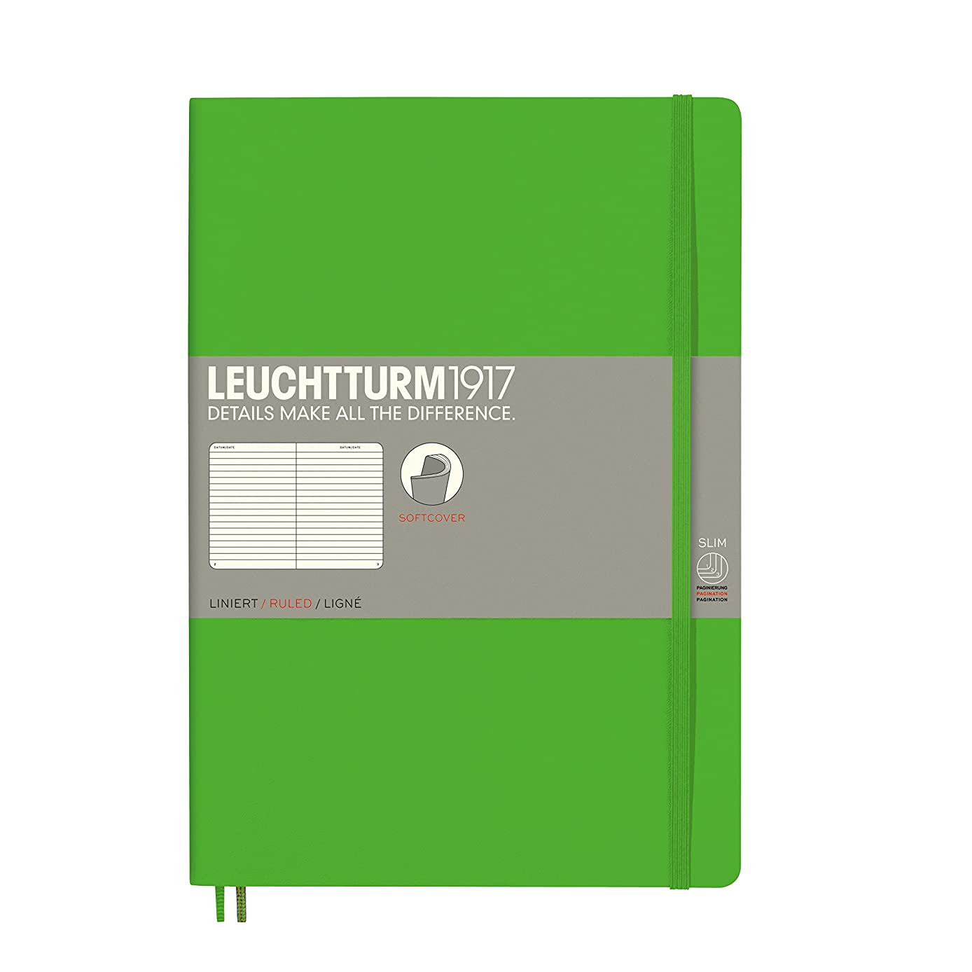 Leuchtturm Softcover Composition B5 Ruled Notebook [Fresh Green]