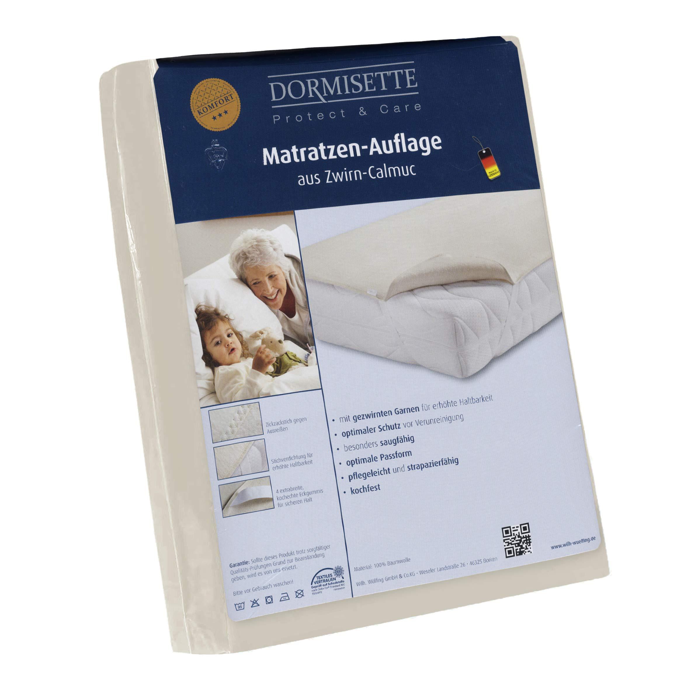 Dormisette Q59 Molton Matratzenauflage, 90200 cm, Baumwolle