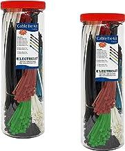 Electriduct – Kit econômico de abraçadeiras grandes – 3000 laços de zíper de nylon, cores e tamanhos variados (2 x 1500 pe...