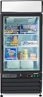 Maxx Cold MXM1-12FB One 1 Glass Door Upright NSF Commercial Glass Door Merchandiser Frost Free Freezer in BLACK - 12cf