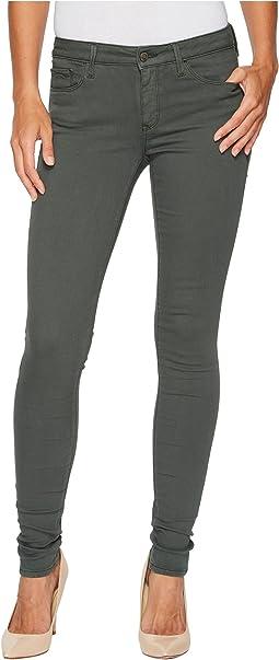 Mavi Jeans - Adriana Mid-Rise Super Skinny in Urban Green Twill