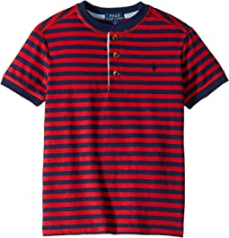 Striped Cotton Jersey Henley (Little Kids/Big Kids)
