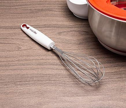 Batedor Pedrini Aco Inox/plastico 31cm Etna 613 Branco