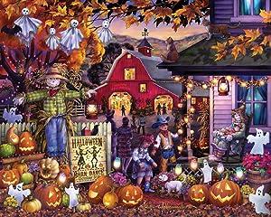 Vermont Christmas Company Halloween Barn Dance Jigsaw Puzzle 1000 Piece