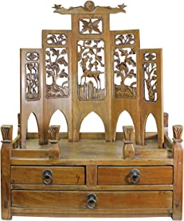 Chinese Vintage Carving Display Shrine Chest Stand Acs5001