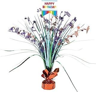 Amscan 110272 Fun Birthday Foil Centerpiece Table Decoration SPRAY CP PR, 1, Multicolor