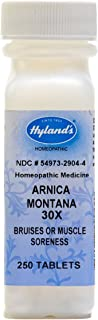 Arnica Tablets, Arnica Montana 30x by Hyland's, Natural Homeopathic Relief of Bruises and Muscle Soreness, 250 Count