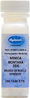 Hyland's Arnica Tablets, Arnica Montana 30x by, Natural Homeopathic Relief of Bruises and Muscle Soreness, White No Flavor...