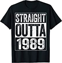 Straight Outta 1989 T-Shirt 30th Birthday Gift Shirt