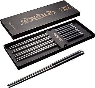 Goldage Fiberglass Dishwasher-safe Chopsticks (Stainless steel)