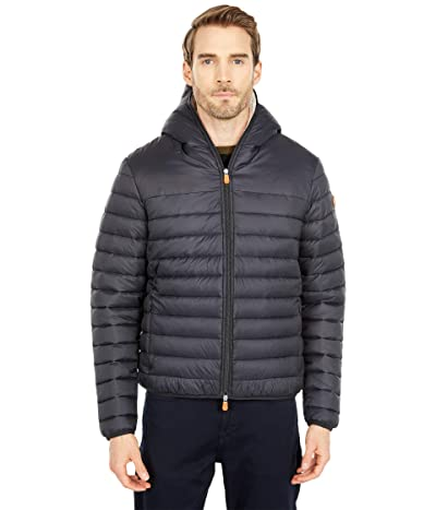 Save the Duck Giga Sherpa Lined Hooded Puffer Jacket (Black) Men