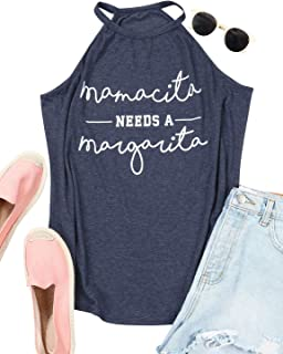 Mamacita Needs A Margarita Tank Mom Shirt Sexy Girl Tee Cinco De Drinko Funny Mexican Graphic Top