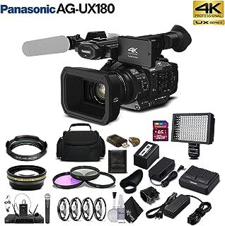 Panasonic AG-UX180 4K Premium Professional Camcorder (AG-UX180PJ) Studio Starter Bundle