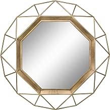 Stonebriar Gold Geometric Wall Mirror, 30 x 30