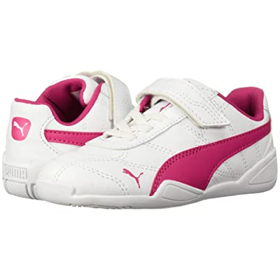 Puma Kids Tune Cat 3 V (Toddler) (Puma White/Beetroot Purple) Girls Shoes