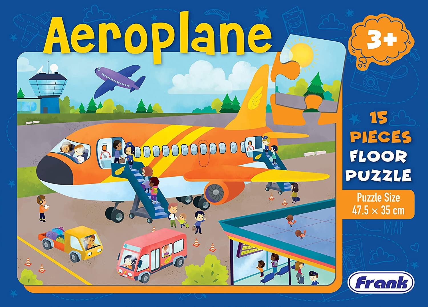 Frank Aeroplane 15 Pieces Floor Puzzle OFFer for Seattle Mall and 3 A Year Kids Old