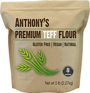 Anthony's Brown Teff Flour, 5lbs, Batch Tested Gluten Free