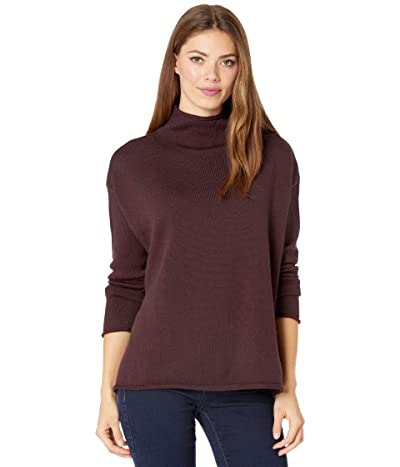 Eileen Fisher Funnel Neck Box Top (Cassis) Women