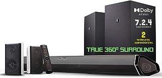 "Nakamichi Shockwafe Elite 7.2.4 Channel 800W Dolby Atmos Soundbar with Dual 8"" Subwoofers (Wireless) & 2 Rear Surround Spe..."