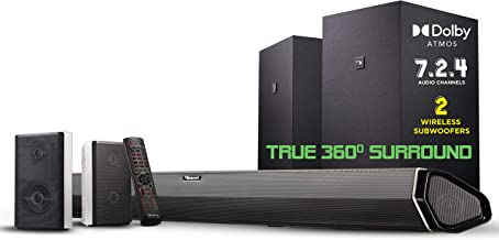 """Best Nakamichi Shockwafe Elite 7.2.4 Channel 800W Dolby Atmos Soundbar with Dual 8"""" Subwoofers (Wireless) & 2 Rear Surround Speakers. Enjoy Plug and Play True 360° Premium Cinema Sound & Room-Shaking Bass Review"""