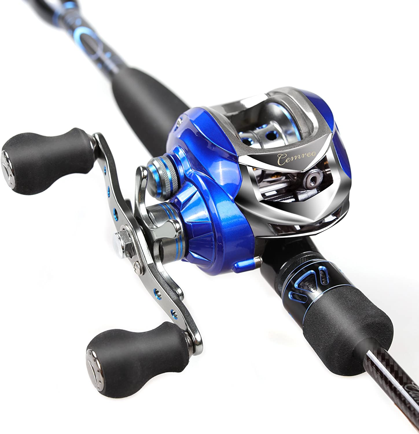Camero Baitcastning Rod and Reel Combo 7Feet MPower with Portable Case