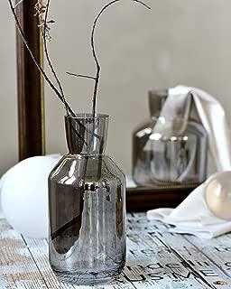 Cyl Home Vases Bottle Shape Optic Bronze Color Glass Flower Arrangement Table Centerpieces Modern Contemporary Dining Living Room Art Decor Accent Gift Vase,9.8'' H x 3.9'' D