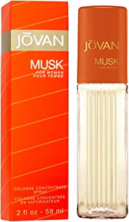 Jovan Musk for Women, Cologne Spray, 2 fl.oz., Women's Fragrance with Musk & Floral Notes like Jasmine, A Sexually Appealing & Attractive Spray on Scent That Makes a Great Gift.
