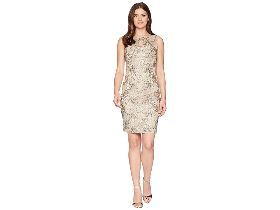 Calvin Klein Sequin Sheath CD8BMV2Y (Khaki Multi) Women