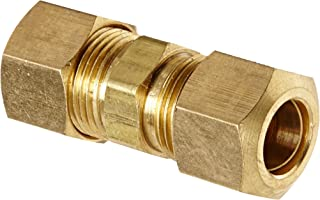 Anderson Metals 50062 Brass Compression Tube Fitting, Union, 3/8
