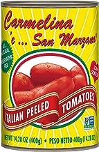 Carmelina San Marzano Italian Whole Peeled Tomatoes in Puree, 14.28 ounce (Pack of 12)