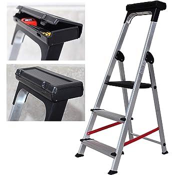 Escalera Ancha de Aluminio ELITE PLUS (3 Peldanos): Amazon.es: Bricolaje y herramientas
