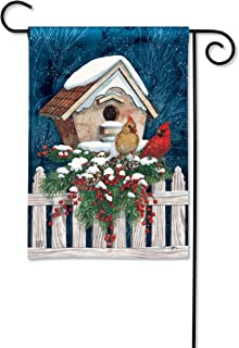 BreezeArt Studio M Winter Home Cardinals Winter Garden Flag - Premium Quality, 12.5 x 18 Inches