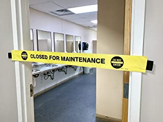 Dart's Goods Closed for Maintenance Sign! with Magnetic Ends! Folds Up for Easy Storage!