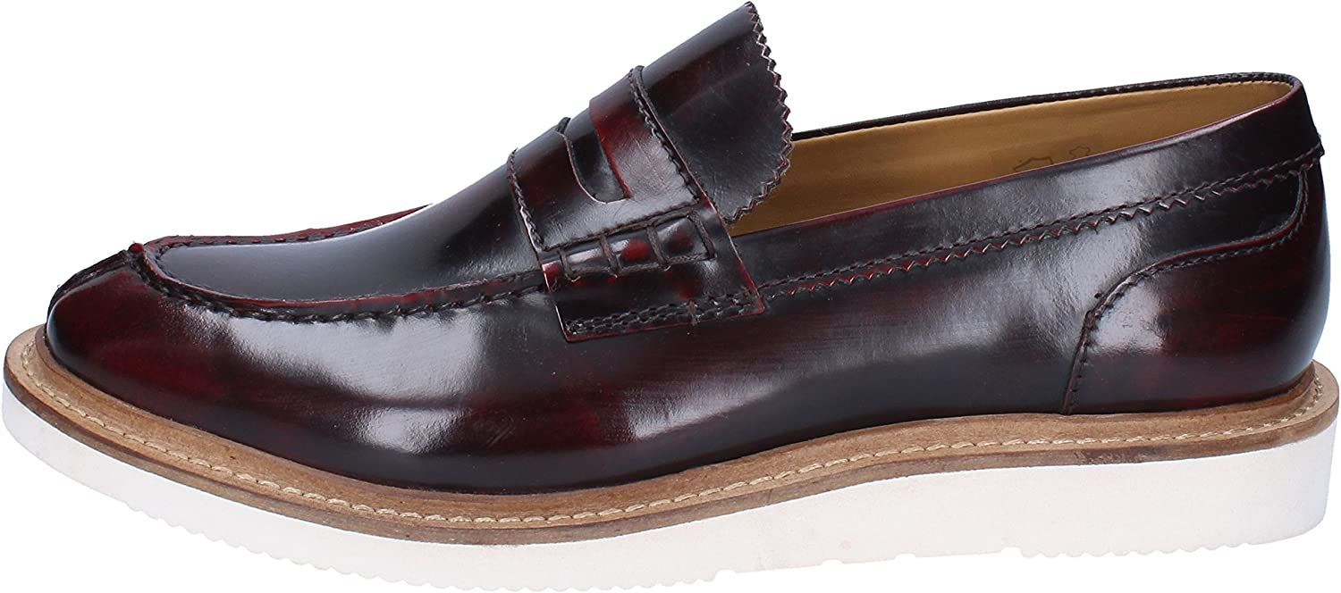 Base London Loafers-shoes Mens Leather Purple