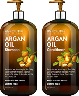 Argan Oil Shampoo and Conditioner, from Majestic Pure, Improve formula Sulfate Free, Vitamin Enriched, Volumizing & Gentle...