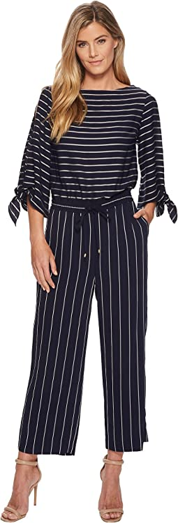 Striped Satin Jumpsuit