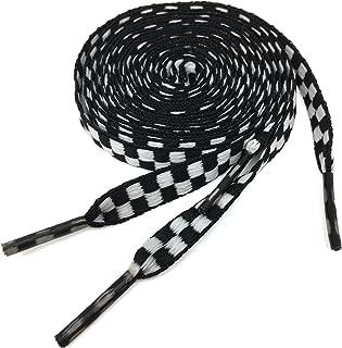 Personalized Rainbow Plaids Stripe Pattern Flat Casual Shoelaces String Plaid Shoe Laces