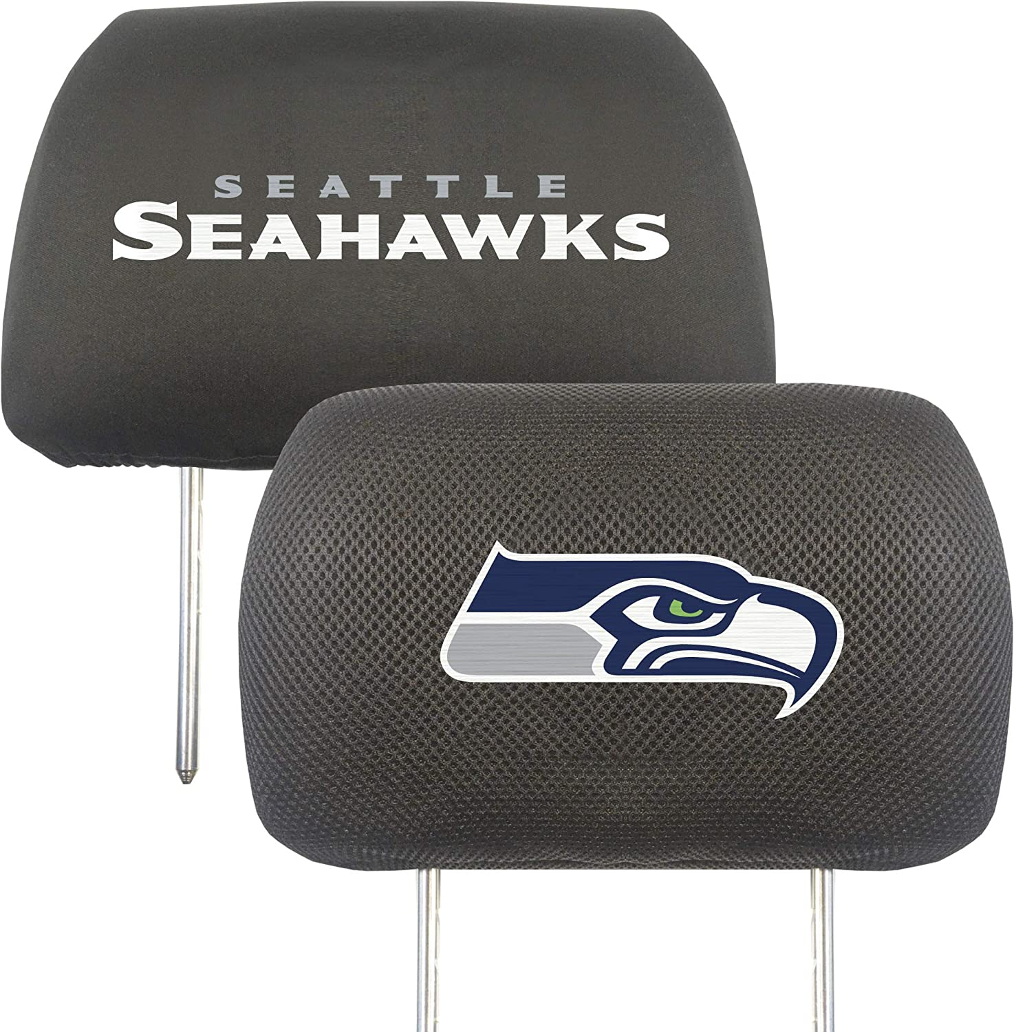 FANMATS NFL Seattle Seahawks Auto Max 61% OFF 5 ☆ popular Headrest Covers Team Colors