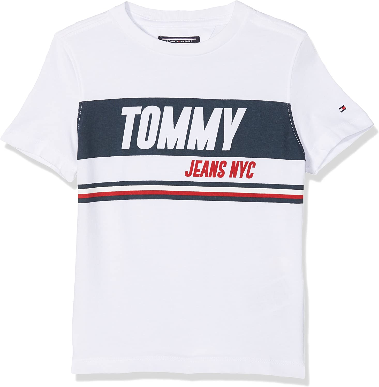 Tommy Hilfiger Ame Sporty Block Panel tee S/S Camiseta para Niños