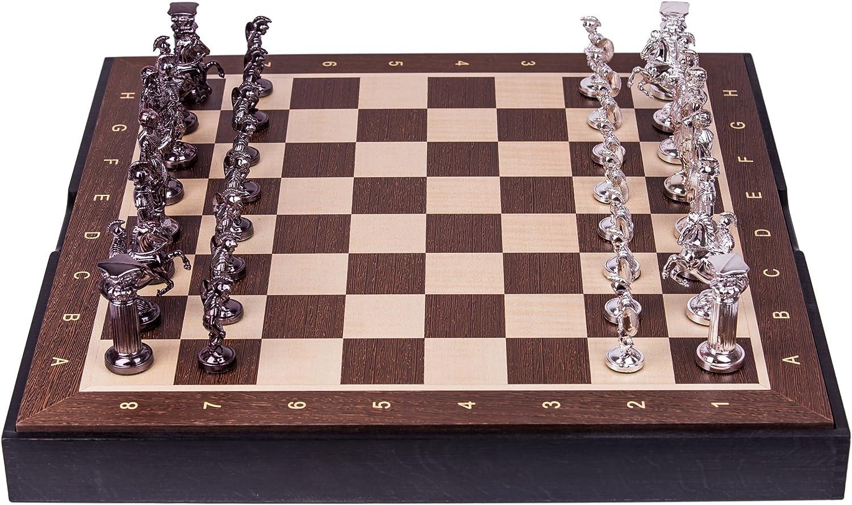 buen precio Square - Ajedrez de Madera - Romano SQ - plata plata plata Edition - Tablero de ajedrez - Wenge  conveniente