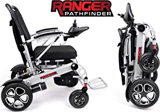 Porto Mobility Ranger Pathfinder X6 Premium Portable Power Wheelchair Aerospace Aluminum Crafted Design Foldable Lightweight Dual Motor Airplane Ready Folding Electric Wheelchair (Free Travel Case))