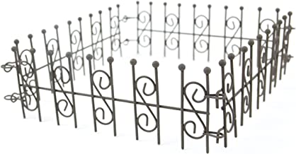 Touch of Nature Mini Iron Fairy Garden Fence, Rustic