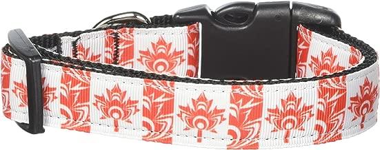 Mirage Pet Products Canadian Flag in Swirls Nylon Dog Collar, Medium