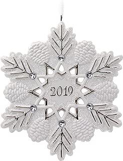 Keepsake Christmas Year Dated 2019 Snowflake Ornament, Porcelain