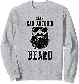 Keep San Antonio Texas BEARD Funny Hipster Retro Sweatshirt