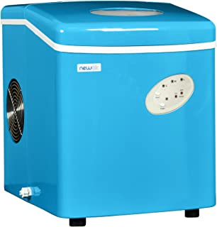 NewAir Portable Ice Maker 28 lb. Daily, Countertop Compact Design, 3 Size Bullet Shaped Ice, AI-100CB, Blue